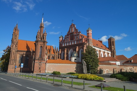 St  Anne s and Bernardinu Church in Vilnius, Lithuania photo