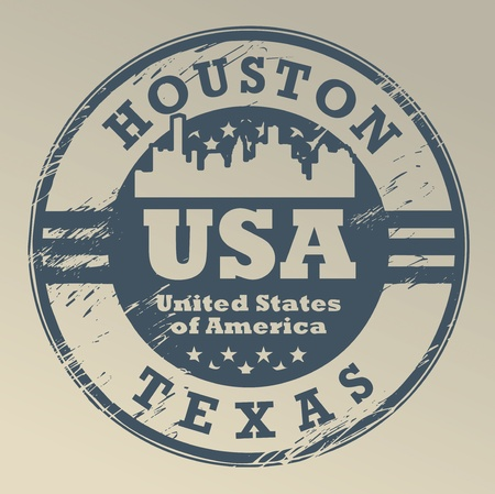 Grunge rubber stamp with name of Texas, Austin Stock Vector - 15676547