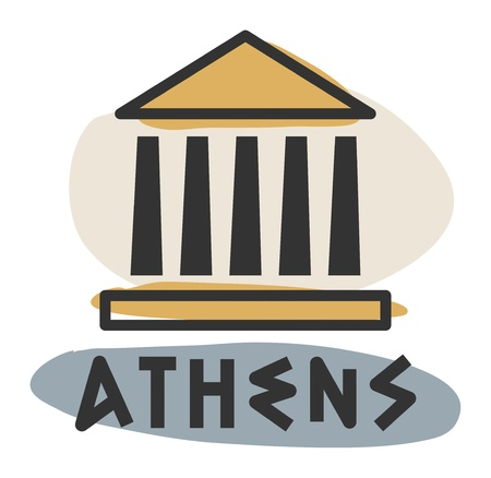 Abstract Athens icon Vector
