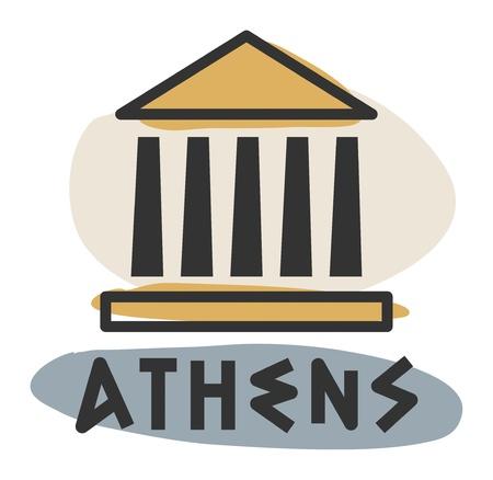 pilastri: Astratto Atene icona