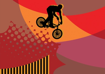 x games: Cyclist abstract background