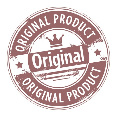 Abstracte grunge rubber stempel met de tekst origineel product geschreven binnen de stempel Vector Illustratie