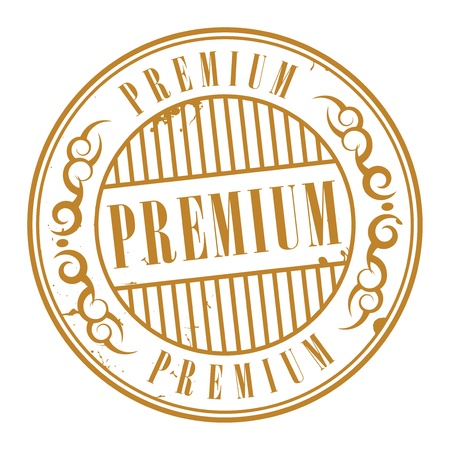 privilege: Grunge rubber stamp with the text premium