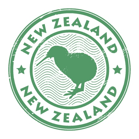 zealand: new zealand stamp Illustration