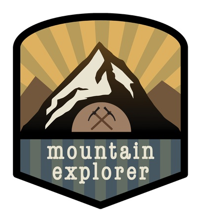 Mountain explorer sign Stock Vector - 16196662