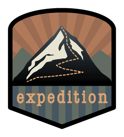 Mountain expedition sign Stock Vector - 16196660