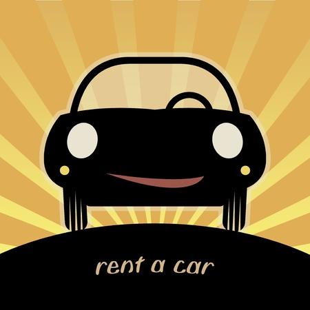 rent a car: Rent a car symbol