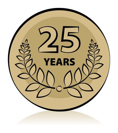 Label 25 anniversary Vector