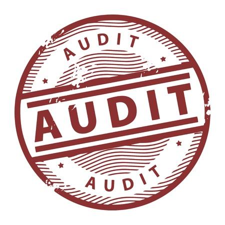 audit: Grunge Stempel mit dem Text Audit innerhalb der Stempel geschrieben