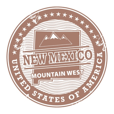 Grunge rubber stamp with text New Mexico, Mountain West Vector