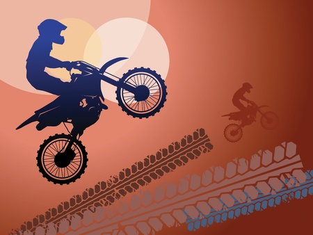 x games: Motocross race background