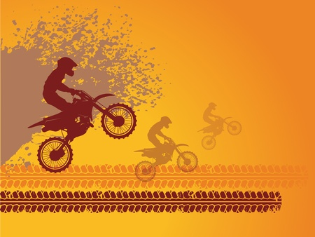 motorbike jumping: Motocross race background
