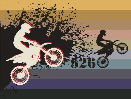 Motocross race background Vector