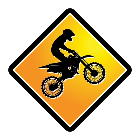motocross riders: Motocross sign Illustration
