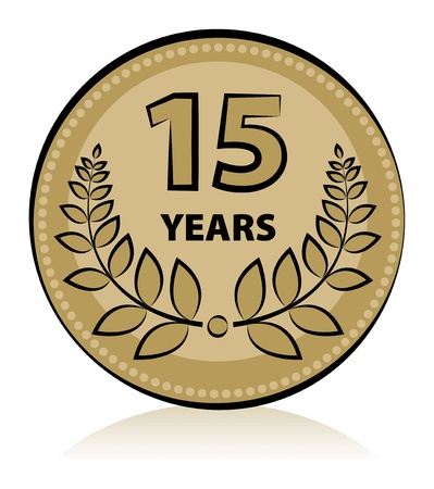 Label 15 anniversary Vector