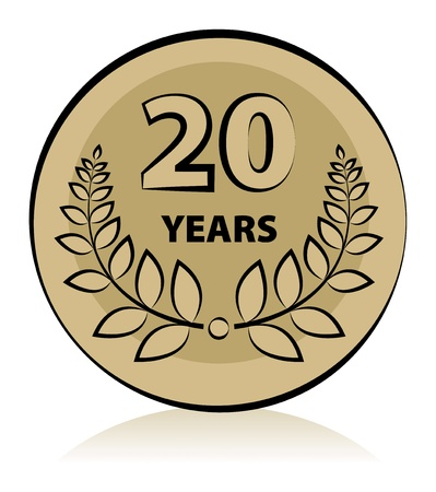 Label 20 anniversary Vector