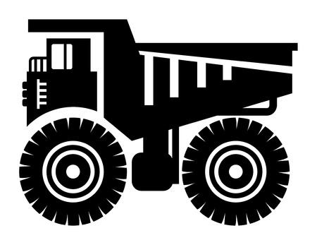 ダンプ: ダンプ トラックのアイコン  イラスト・ベクター素材