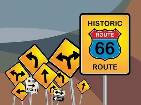 Route 66 sign Stock Vector - 16491513