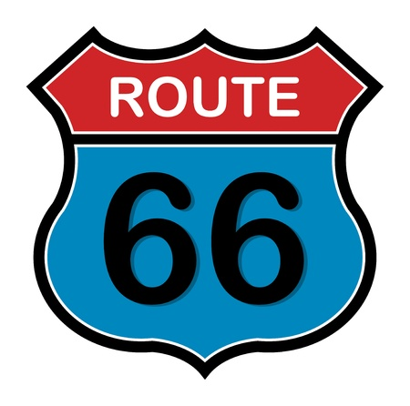 66: Route 66 sign Illustration
