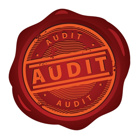 audit: Wax seal with text Audit inside