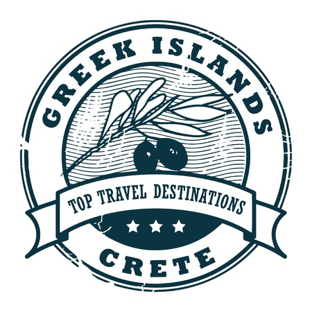 Grunge rubber stamp with text Greek Islands, Crete Stock Vector - 16561146