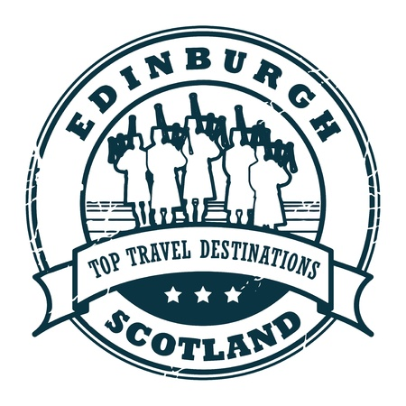 edinburgh: Grunge rubber stamp with text Edinburgh, Scotland Illustration