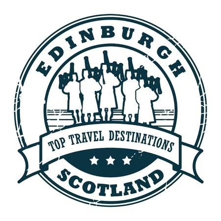 Tampon en caoutchouc grunge avec le texte Édimbourg, en Écosse