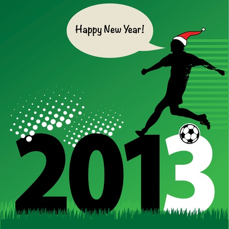 new year football Vector