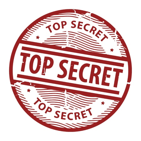 secret: Grunge rubber stamp with the text Top Secret written inside the stamp Illustration