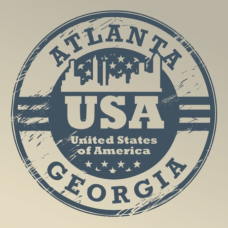 Grunge rubber stamp with name of Georgia, Atlanta Vector