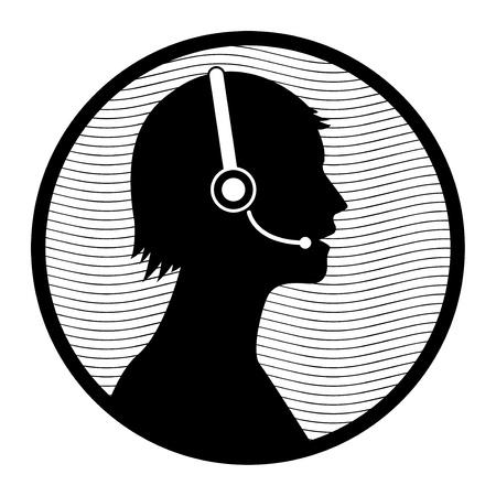 customer service icon: Call customer service icon Illustration