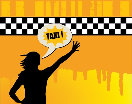 yellow cab: Taxi abstract background