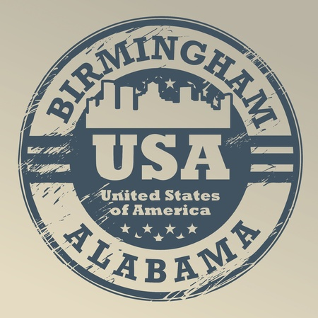 Grunge rubber stamp with name of Alabama, Birmingham Stock Vector - 16950260