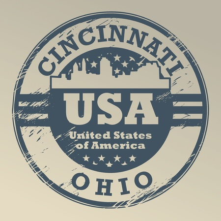 Grunge rubber stamp with name of Ohio, Cincinnati Vector