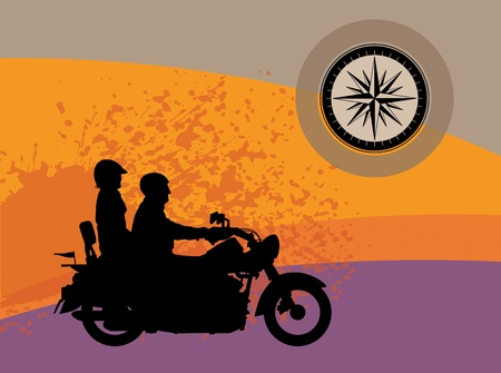 motocycle: Bikers abstract background Illustration