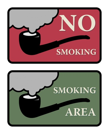 No Smoking and Smoking area signs Stock Vector - 17110712