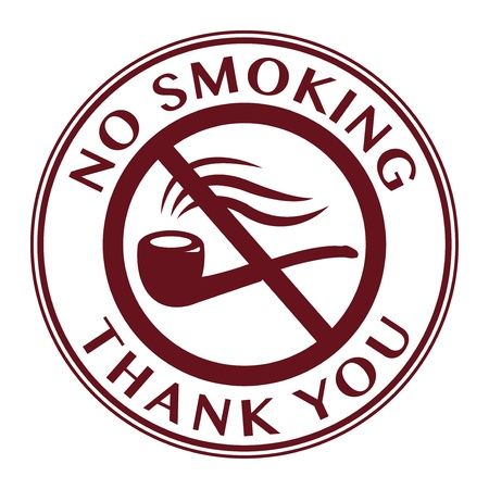No Smoking stamp or sign Vector