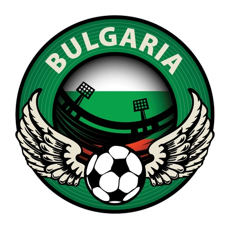 Label with football and name Bulgaria Stock Vector - 17215666