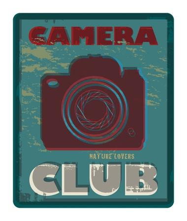 digital slr: Camera Club abstract Illustration