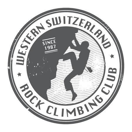 climbers: Rock climbing club stamp