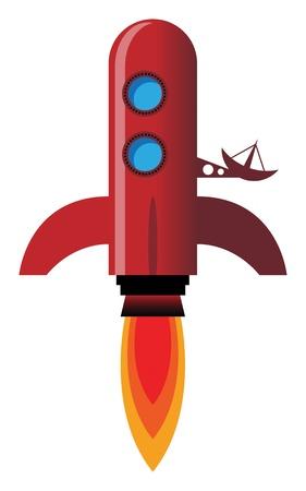 Retro rocket Stock Vector - 17300430