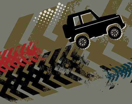 offroad: Off-road absctract background Illustration