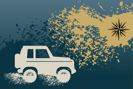 off road: Off-road absctract background Illustration