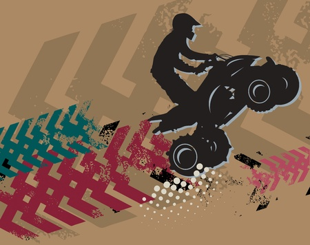 quad: Off-road absctract background Illustration
