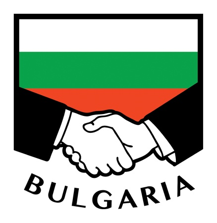 syndicate: Bulgaria flag and business handshake