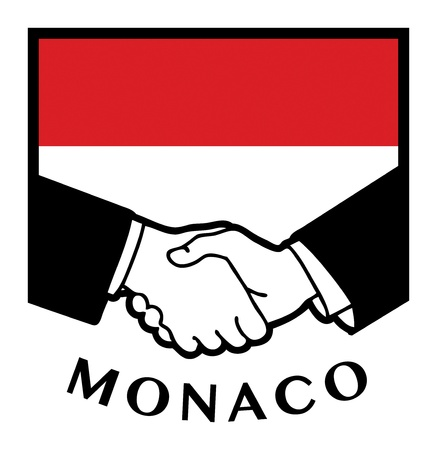 Monaco flag and business handshake Stock Vector - 17386768