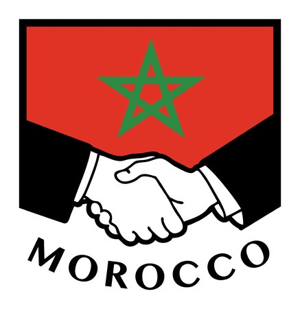 Morocco flag and business handshake Stock Vector - 17386773
