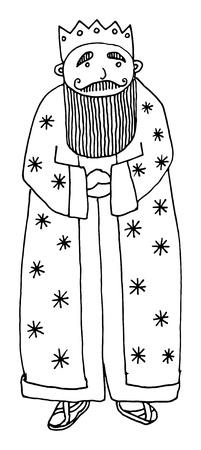 medieval king: Cartoon king