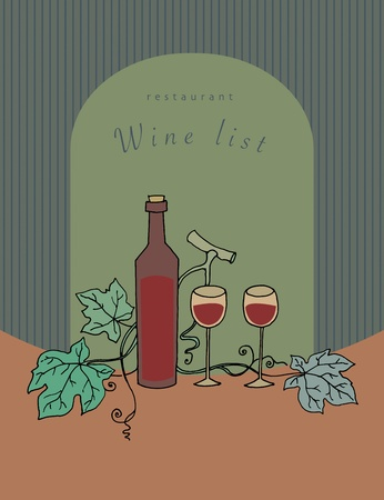 Wine list design Vector