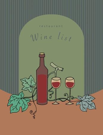 Wine list design Stock Vector - 17457472
